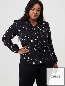 oasis-curve-star-pussybow-moss-crepe-shirt-mononbsp