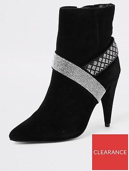 river-island-river-island-embellished-suede-cone-heel-boot-black