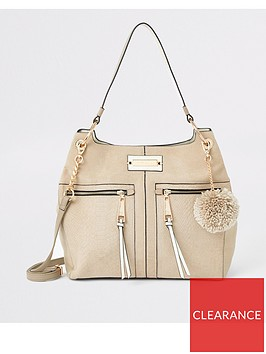 river-island-river-island-zip-front-slouch-bag-beige