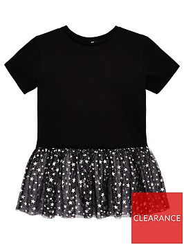 v-by-very-girls-star-mesh-peplum-top-black