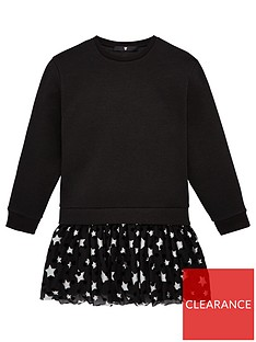 v-by-very-girls-star-mesh-hem-dress-black