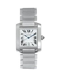 cartier-cartier-pre-owned-gents-tank-francaise-steel-watch-silver-dial-ref-2302