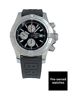 breitling-breitling-pre-owned-gents-super-avenger-ii-steel-watch-black-dial-ref-a13371