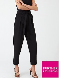 v-by-very-clean-waist-tie-front-trouser-black
