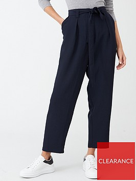 v-by-very-clean-waist-tie-front-trouser-navy