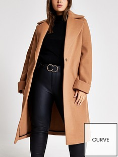 ri-plus-ri-plus-longline-turn-up-sleeve-coat-beige