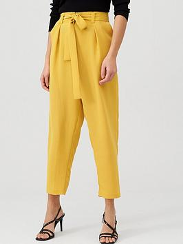 v-by-very-tie-waist-trouser-mustard