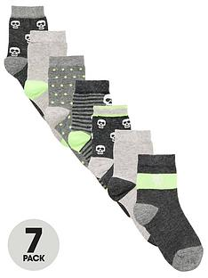 v-by-very-boys-7-pack-skull-socks-greylime