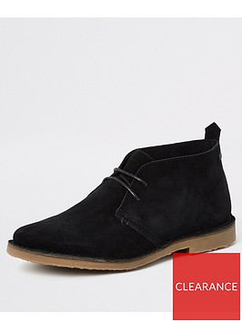 river-island-black-suede-wide-fit-dessert-boots