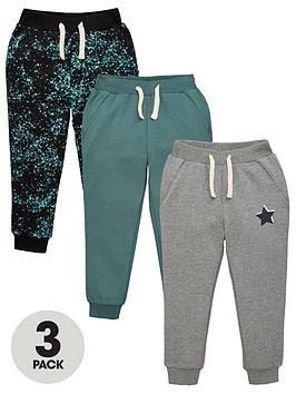v-by-very-boys-3-pack-splatter-print-star-and-plain-joggers-multi