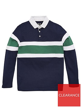 v-by-very-boys-long-sleeve-cut-amp-sew-rugby-polo-khaki