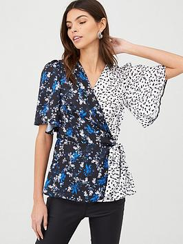 v-by-very-wrap-blue-floral-mix-print-blouse-floral