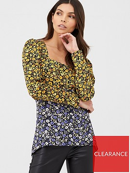 v-by-very-square-neck-blouse-floral