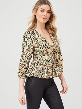 v-by-very-wrap-puff-sleeve-blouse-floral
