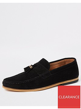 river-island-black-suede-tassel-wide-fit-loafers