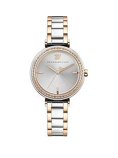 amanda-walker-amanda-walker-grace-silver-sunray-and-rose-gold-crystal-set-dial-two-tone-stainless-steel-bracelet-ladies-watch
