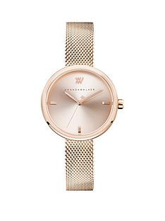 amanda-walker-amanda-walker-rose-blush-sunray-dial-rose-gold-stainless-steel-mesh-strap-ladies-watch