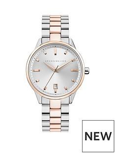amanda-walker-amanda-walker-amelia-silver-sunray-and-rose-gold-date-dial-two-tone-stainless-steel-bracelet-ladies-watch