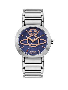 vivienne-westwood-vivienne-westwood-clerkenwell-midnight-blue-and-rose-gold-orb-dial-stainless-steel-h-link-bracelet-watch
