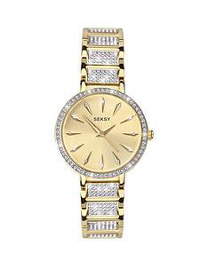 seksy-seksy-gold-sunray-dial-gold-stainless-steel-crystal-set-bracelet-ladies-watch