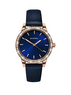 sekonda-sekonda-blue-sunray-and-gold-detail-crystal-set-dial-blue-leather-strap-ladies-watch