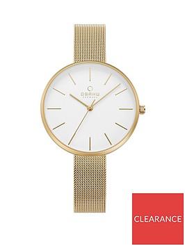 obaku-obaku-mynte-white-dial-rose-gold-stainless-steel-mesh-strap-ladies-watch