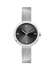 amanda-walker-amanda-walker-black-sunray-and-rose-gold-detail-dial-stainless-steel-bracelet-ladies-watch