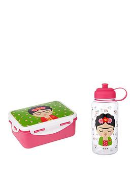 Sass & Belle Frida Kahlo Lunch Box And Waterbottle