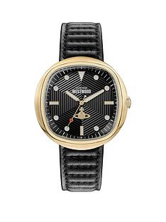 vivienne-westwood-vivienne-westwood-lexington-black-textured-gold-detail-soft-square-dial-black-leather-strap-watch