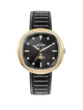 vivienne-westwood-vivienne-westwood-lexington-black-textured-gold-detail-soft-square-dial-black-leather-strap-watch