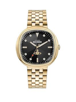 vivienne-westwood-vivienne-westwood-lexington-black-textured-gold-detail-soft-square-dial-gold-stainless-steel-bracelet-watch