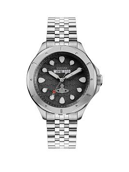 vivienne-westwood-vivienne-westwood-blackwall-black-textured-silver-detail-dial-stainless-steel-bracelet-watch