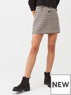 warehouse-dogstooth-pocket-pelmet-skirt-multi