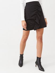 warehouse-frill-pelmet-skirt-black
