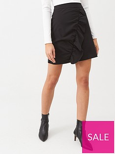 warehouse-frill-pelmet-skirt-black