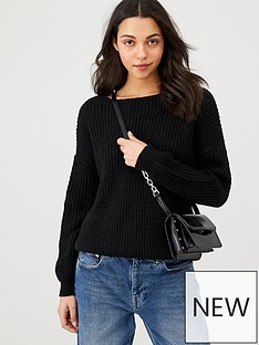 v-by-very-wrap-back-jumper-black