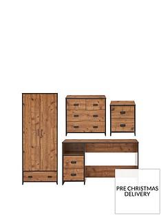 jackson-4-piece-package-kids-2-door-1-drawer-wardrobe-22-drawer-chestnbsp2-drawer-bedside-chest-and-desk