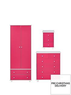 miami-fresh-kidsnbsp3-piece-package-2-door-2-drawer-wardrobe-5-drawer-chest-3-drawer-bedside-chest-pink