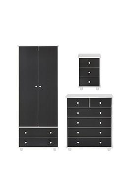 miami-fresh-kidsnbsp3-piece-package-2-door-2-drawer-wardrobe-5-drawer-chest-3-drawer-bedside-chest-black