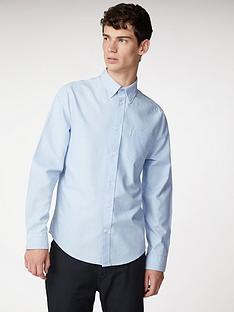 ben-sherman-long-sleeve-oxford-shirt-blue-shadow