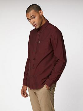 ben-sherman-ben-sherman-long-sleeve-oxford-shirt-brown