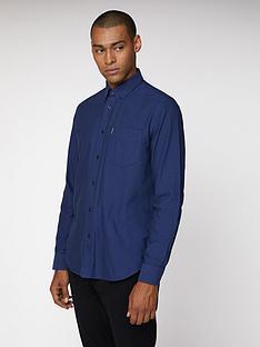 ben-sherman-long-sleeved-oxford-shirt-cobalt
