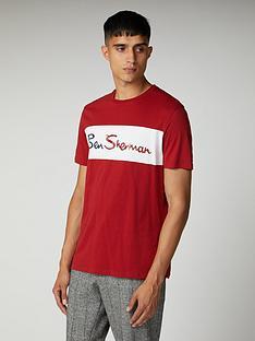 ben-sherman-cut-and-sew-branded-t-shirt-bordeaux