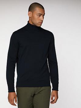 ben-sherman-cotton-roll-neck-black