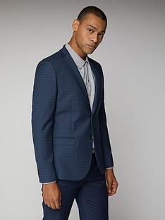 ben-sherman-micro-check-mod-suit-jacket-blue