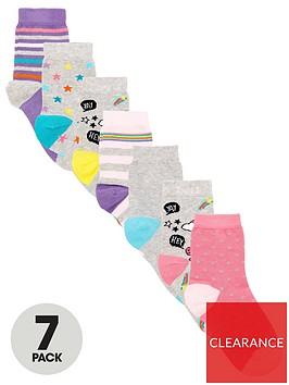 v-by-very-girls-7-pack-dino-unicorn-socks-multi