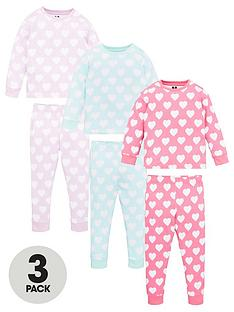 v-by-very-girls-3-pack-heart-pyjamas-multi