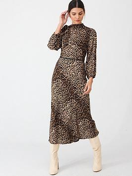 oasis-pussy-bow-midi-dress-animal