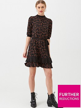 oasis-patched-spot-dress-multiblack