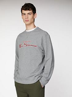ben-sherman-logo-sweat-alluminium